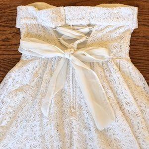 American Rag Lace Corset Back Strapless Dress
